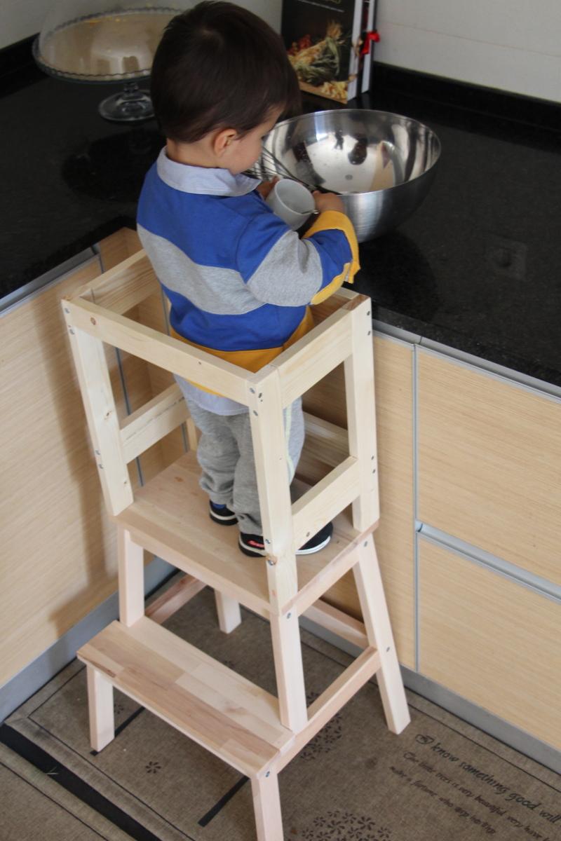 DIY Torre de aprendizagem com o banco IKEA