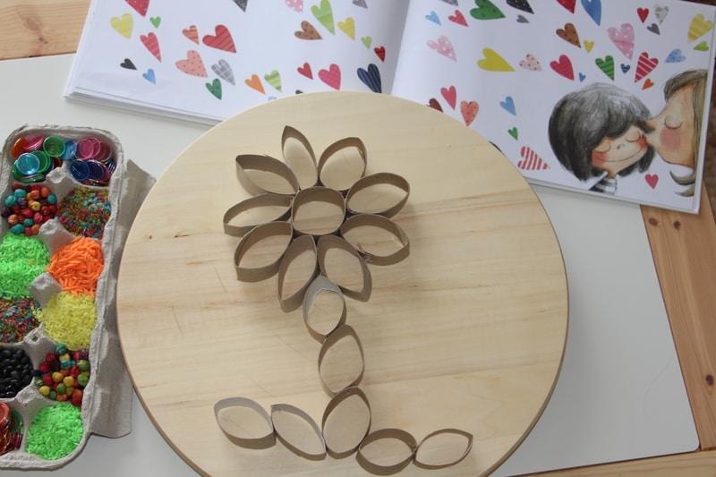 Flor de primavera rolos papel higienico-capa