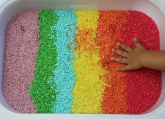 Arroz com as cores do arco-íris em tons pastel-capa1