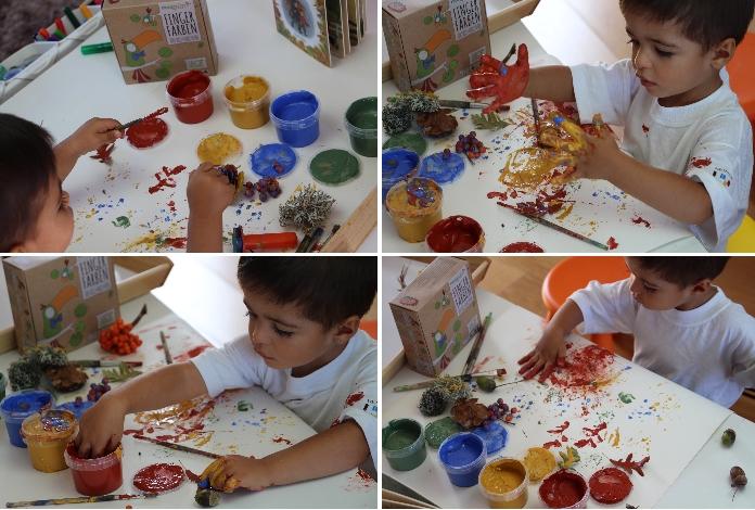Pintar o outono com dedos1