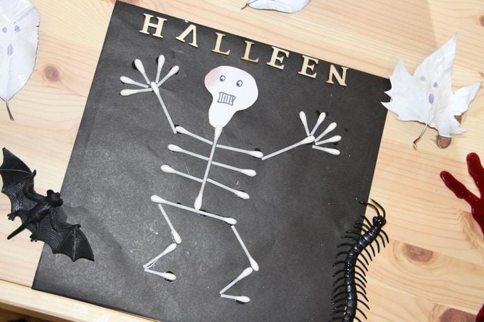 esqueleto de cotonetes