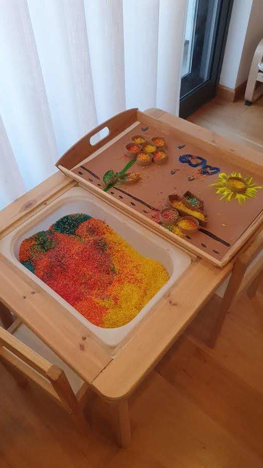 Arte com arroz arco-iris5